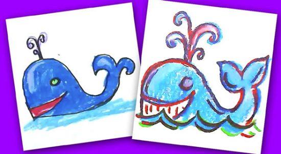 Канал «РыбаКит»— видеоуроки рисования для детей: отцветных мелков догуаши