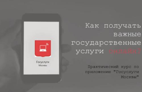 Вебинар «Как получать важные государственные услуги онлайн?» Практический курс поприложению «Госуслуги Москвы»